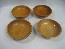 Set of Four (4) Wood Salad  Bowls Made in Japan