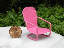 Miniature Dollhouse FAIRY GARDEN Furniture ~ Micro Mini Bright Pink Glider Chair