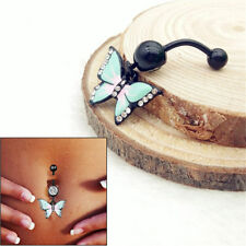 Navel Ring Stainless Steel Jewelry- 1Pc Butterfly Belly Button Body Piercing