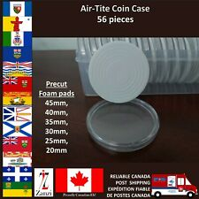 45mm Clear Round Coin Capsules 56 pieces per box