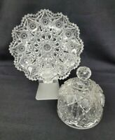 Antique American Brilliant Cut Domed Butter Cheese Dish - Antique Cut Glass