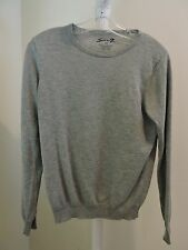 Seven 7 Wool Blend Gray Crew-neck Sweatshirt - Size - Medium