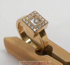 CHOPARD RING HAPPY DIAMONDS GOLD 750 mit 17 BRILLANTEN - signiert punziert - OVP