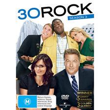 30 ROCK - SEASON 3 - BRAND NEW & SEALED DVD SET (REGION 4) ALEC BALDWIN