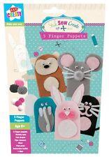 Pack of 5 Novelty Make-Your-Own Felt Finger Puppet Children's Toys