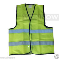 Green Fluorescent Safety Vest w/ Hook & loop closure - XL