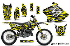 SUZUKI RM 125 250 Graphics Kit 2001-2009 CREATORX DECALS BOLT THROWER YELLOW NP