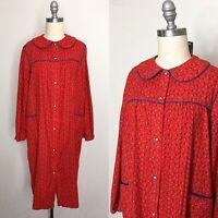 Vintage 60s Beco Originals Calico House Dress Medium