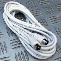 10 METRE EXTENSION AERIAL LEAD MALE - MALE 10M MOTORHOME CARAVAN BOAT TV HOME