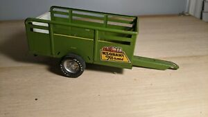 Vintage Nylint Toy WT Grant Farms Utility Stake Trailer Green Steel With Ramp