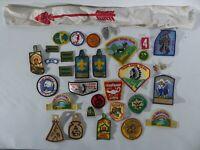 Vintage Boyscout BSA patches 1970s St. Louis Arrowhead sash fleur de lis