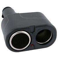New Two Way Dual Socket 12 24V Power DC Car Cigarette Lighter Charger Splitter