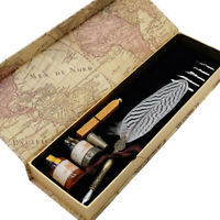 GC Quill Calligraphy Pen Set -  Feather Dip Pen with Ink and Nibs Set for Gifts