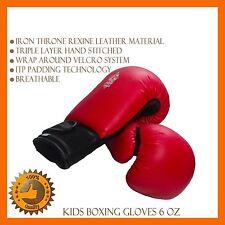 6 OZ BOXING SPARRING JUNIOR MITT PAD KICK MMA UFC PUNCHING BAG GEAR FIGHT KID