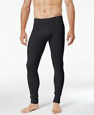 $55 ALFANI Men's THERMAL PANTS Black Long Johns Base Layer Bottoms UNDERWEAR S