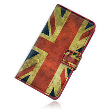 UK Flag Retro Leather Magnetic Flip Phone Cover Case Stand For LG Optimus L70