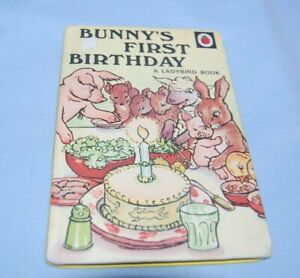 Vintage BUNNY'S FIRST BIRTHDAY Ladybird Book