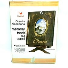 Vintage Pine Cardinal Industries Country Americana Memory Book and Easel 15""