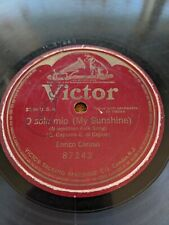 "78rpm [1916] Enrico Caruso ""O SOLE MIO""  VICTOR 87243 Single Sided 10"""