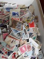 lotto 150 francobolli nuovi - usati presi a caso da 50 anni di accumulo
