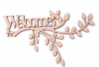 Wooden mdf Branch Welcome Plaque Branch Wall Art Personalised Gift