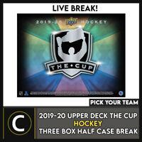 2019-20 UPPER DECK THE CUP HOCKEY 3 BOX (HALF CASE) BREAK #H1071 -PICK YOUR TEAM