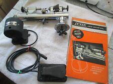 Levin Watchmaker Lathe - Pedal & Kendrick Reverseable Motor - Tip-Over Tool Rest