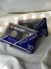 BASF Chrome Extra II 90 Hifi High Bias Audio Cassette Tape New Sealed Lot Of 2