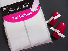 Nail Art White French Manicure Guide LighteninG Tip Manicure Stickers Stencil 03