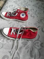 UNISEX CONVERSE RED HIGH TOP TRAINERS SIZE 6