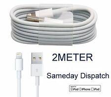 100% Original 2m aprobado por la CE iPhone 5 5c 5s 6 6s 7 7+ USB Cargador Datos Cable De Plomo