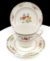 """ROYAL DOULTON #TC115 KINGSWOOD FLOWERS & LAUREL 2 3/4"""" CUP AND SAUCER TRIO"""