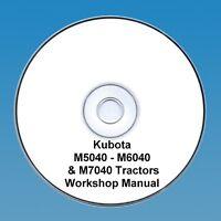 Kubota M5040 - M6040 & M7040 Tractor  Workshop Manual