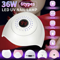36W UV Nail Polish Dryer LED Lamp Gel Acrylic Curing Light Spa Professional