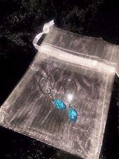 Sterling Silver Swarovski Sky-Blue Teardrop crystal bead
