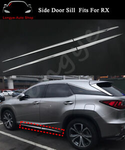 Fits for Lexus RX RX350 RX450h 2016-2021 Side Door Sill Trim Moulding Bar Plate