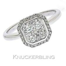 Engagement Band Round Fine Diamond Rings