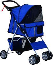 Pet Travel Stroller small Dog Cat Pushchair Trolley Jogger Carrier 4 Wheels
