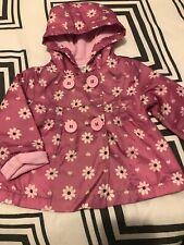 Baby Girl Pioggia MAC Cappotto PRIMAVERA ESTATE Giacca con cappuccio Giacca a vento Fiore 18M-5Y