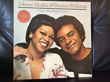 "JOHNNY MATHIS & DENIECE WILLIAMS - That's What Friends Are For 12"" #FREE P&P UK#"