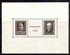 Poland Sc 251 NH issue of 1928 - Great Souvenir Sheet!