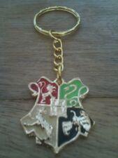 Harry Potter - Gold Hogwarts School Badge Keyring
