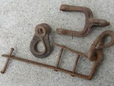 antique plow horse buggy parts maybe hand forged 3 old iron