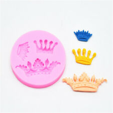 3D Crown Design Silicone Mould Cake Topper Fondant Chocolate Sugarcraft DIY Mold