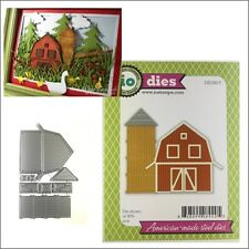 Barn metal die set - Impression Obsession cutting dies DIE399-Y farm silo