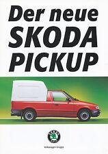Prospekt skoda implantada pick-up 3 96 1996 auto folleto brochure auto turismos Czech Car