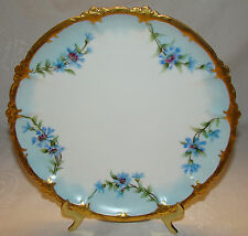 Gorgeous Antique RC Bavaria Rosenthal Claire Hand Painted Swag Bouquets Plate