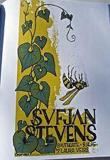 SUFJAN STEVENS Mini-Poster  for 2005 Covington KY Concert Offset Litho 14x10