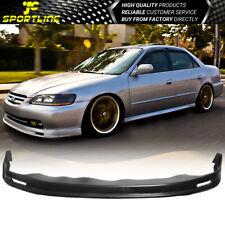 Fits 98-02 Honda Accord 4Dr Sedan Front Bumper Lip Spoiler Mugen Style - Pp
