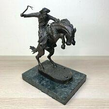 "Frederic Remington Bronze Collectible Sculpture Western Statue Stone Base 7-7.5"""
